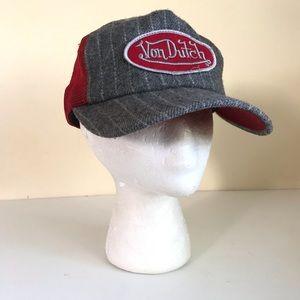 Von Dutch Striped Trucker Hat